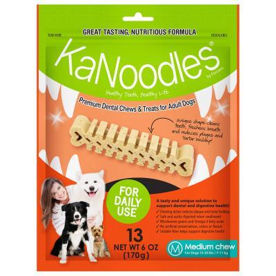 KaNoodles Dental Chew Medium Treats For Dogs 13 Chews 170gm