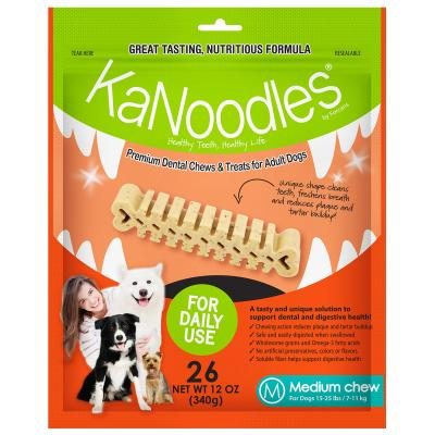 KaNoodles Dental Chew Medium Treats For Dogs 26 Chews 340gm