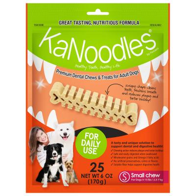 KaNoodles Dental Chew Small Treats For Dogs 25 Chews 170gm