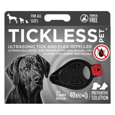 Tickless Pet Ultrasonic TickAnd Flea Repellent Black For Dogs
