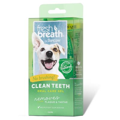 Tropiclean Fresh Breath Clean Teeth Gel For Dogs 118ml