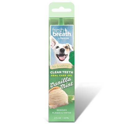 Tropiclean Fresh Breath Clean Teeth Gel Vanilla Mint For Dogs 59ml