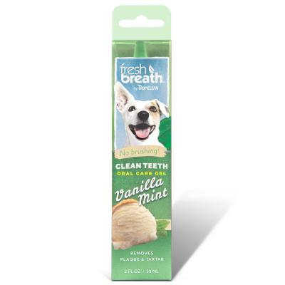 Tropiclean Fresh Breath Clean Teeth Gel Vanilla Mint For Dogs 59ml