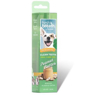 Tropiclean Fresh Breath Clean Teeth Gel Peanut Butter For Dogs 59ml