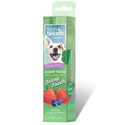 Tropiclean Fresh Breath Clean Teeth Gel Berry Fresh For Dogs 59ml