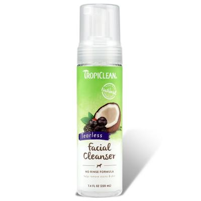 Tropiclean Waterless Tearless Facial Cleanser For Dogs 220ml