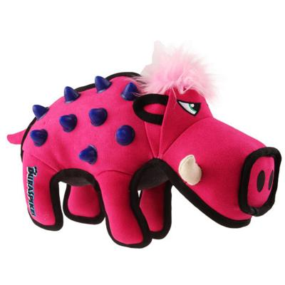 GiGwi Duraspikes Durable Rose Pink Wild Boar Tough Toy For Dogs