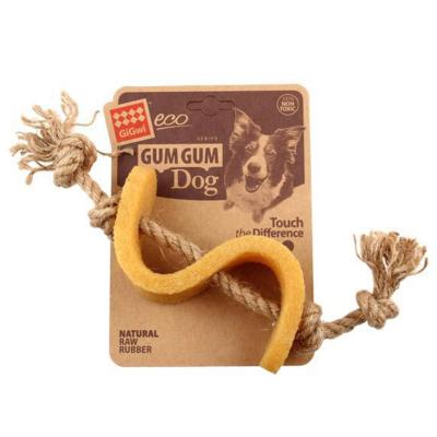 GiGwi Gum Gum Dollar With Hemp Rope Strap Toy For Dogs