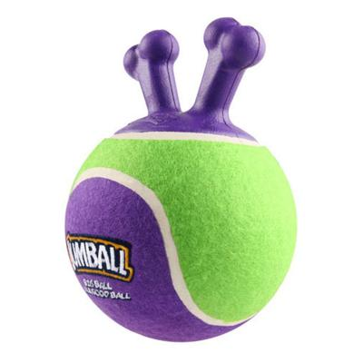 GiGwi Jumball Tennis Ball Green And Purple Throw And Fetch Toy for Small Dogs