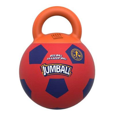 GiGwi Jumball Soccer Ball Red And Purple Throw And Fetch Toy for Dogs (6335)