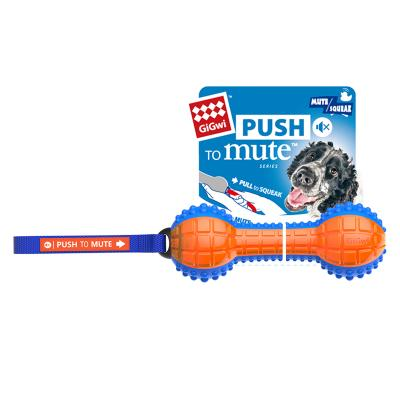 GiGwi Push To Mute Pull To Squeak Dumbell Rubber Toy For Dogs (6181)