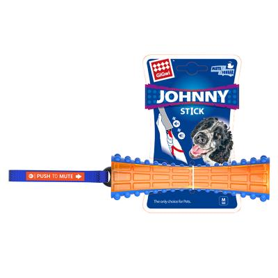 GiGwi Push To Mute Pull To Squeak Johnny Stick Rubber Toy For Dogs (6186)
