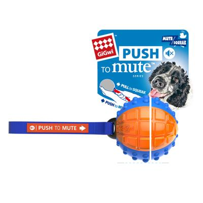 GiGwi Push To Mute Pull To Squeak Regular Ball Rubber Toy For Dogs (6180) DAG2025