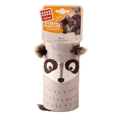 GiGwi Melody Chaser Tube Raccoon Motion Activated Sound Toy For Cats