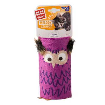 GiGwi Melody Chaser Tube Owl Motion Activated Sound Toy For Cats