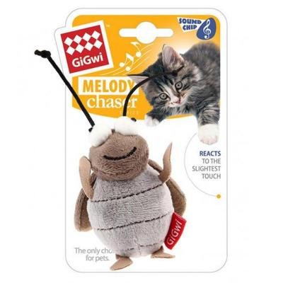Gigwi Melody Chaser Cricket Motion Activated Sound Toy For Cats
