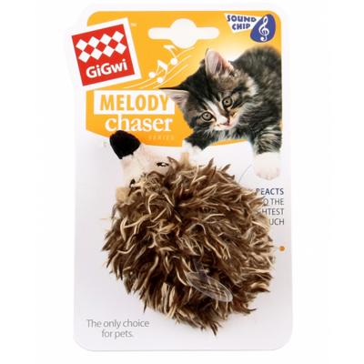 Gigwi Melody Chaser Hedgehog Motion Activated Sound Toy For Cats