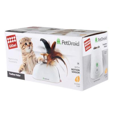 GiGwi PetDroid Feather Hider PeekABoo Motion Activated Sound Toy For Cats(7022)
