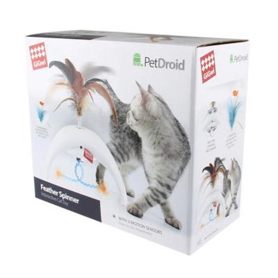 GiGwi PetDroid Feather Spinner Motion Activated Toy For Cats (7002)