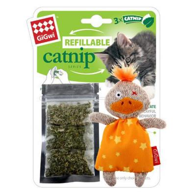 Gigwi Refillable Catnip Duck Toy For Cats