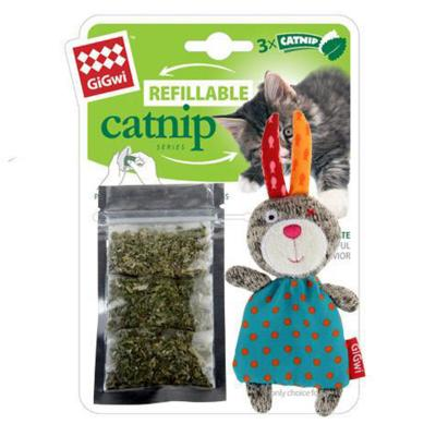 Gigwi Refillable Catnip Rabbit Toy For Cats