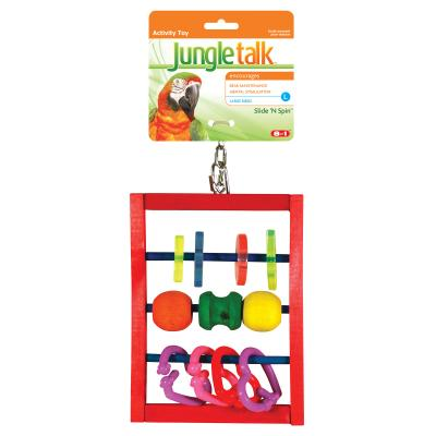Jungle Talk Slide N Spin Abacus Activity Toy Large For Birds