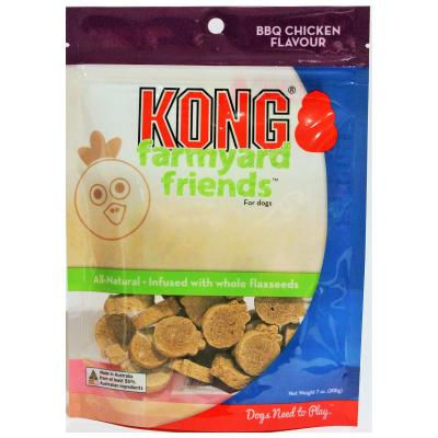 KONG Farmyard Friends BBQ Chicken Flavour Biscuit Treats For Dogs 200gm