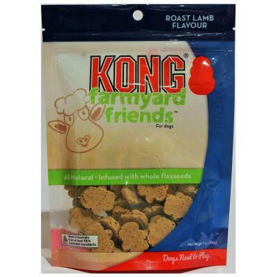 KONG Farmyard Friends Roast Lamb Flavour Biscuit Treats For Dogs 200gm