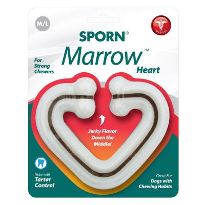 Sporn Marrow Nylon Heart Bone Medium Large Toy For Dogs