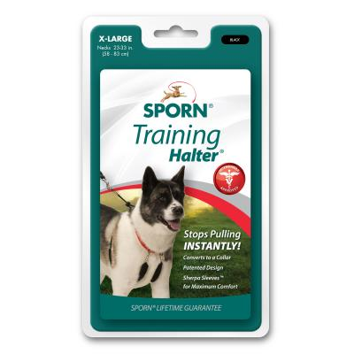 Sporn Training Halter Black For Extra Large Dogs