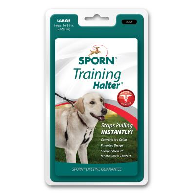 Sporn Training Halter Black For Large Dogs