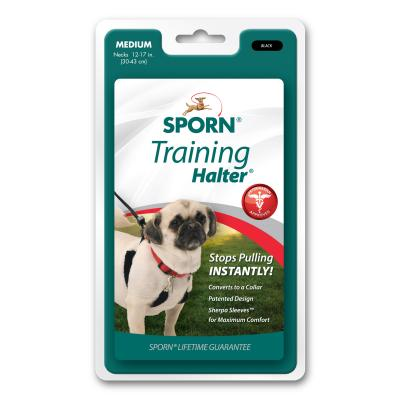 Sporn Training Halter Black For Medium Dogs