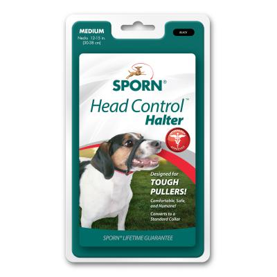 Sporn Head Control Halter Black For Medium Dogs