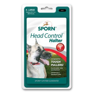 Sporn Head Control Halter Black For Extra Large Dogs