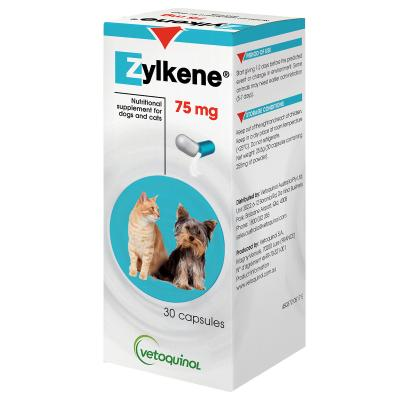 Zylkene Nutritional Supplement For Dogs And Cats 75mg x 30 Capsules