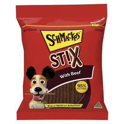 Schmackos Stix With Beef Treat For Dogs 500gm