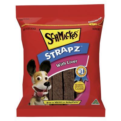 Schmackos Strapz With Liver Treat For Dogs 500g