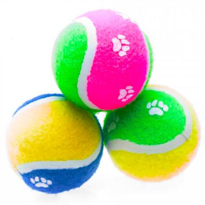 Petlife Sponge Mini Tennis Ball Single Toy For Dogs