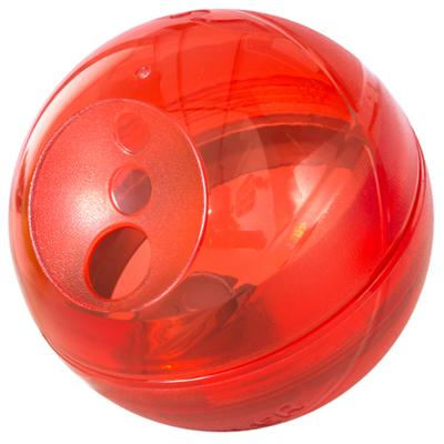 Rogz Tumbler Treat Dispenser Puzzle Ball  Red Toy For Dogs