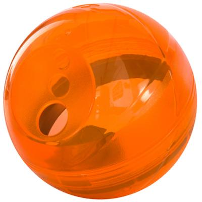 Rogz Tumbler Treat Dispenser Puzzle Ball Orange Toy For Dogs