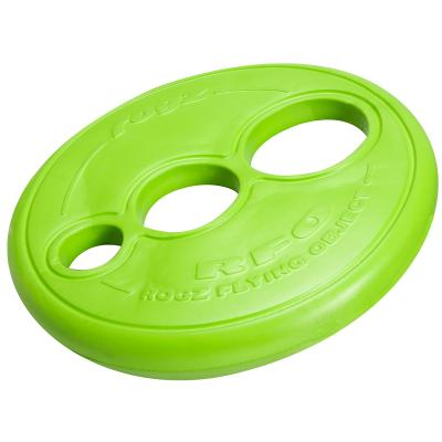 Rogz RFO Flying Frisbee Disc Fetch Toy Lime For Dogs