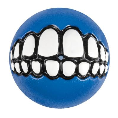 Rogz Grinz Treat Dispensing Ball Blue Toy Small For Dogs