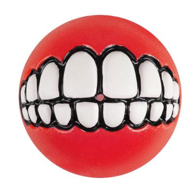 Rogz Grinz Treat Dispensing Ball Red Toy Medium For Dogs