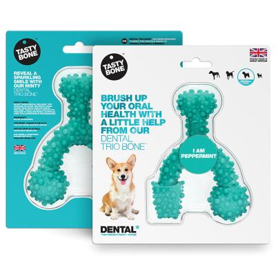 Tasty Bone Peppermint Nylon Trio Dental Toy Small For Adult Dogs