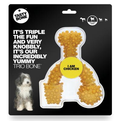 Tasty Bone Chicken Nylon Trio Toy Large For Adult Dogs