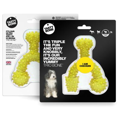 Tasty Bone Chicken Nylon Trio Toy Small For Adult Dogs