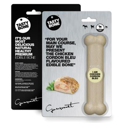 Tasty Bone Gourmet Edible Chicken Cordon Bleu For Small Adult Dogs