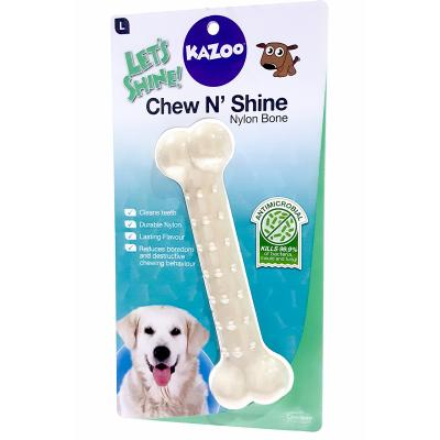 Kazoo Chew N Shine Nylon Bone Chicken Flavoured Large Treat Toy For Dogs