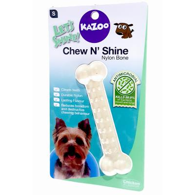 Kazoo Chew N Shine Nylon Bone Chicken Flavoured Small Treat Toy For Dogs