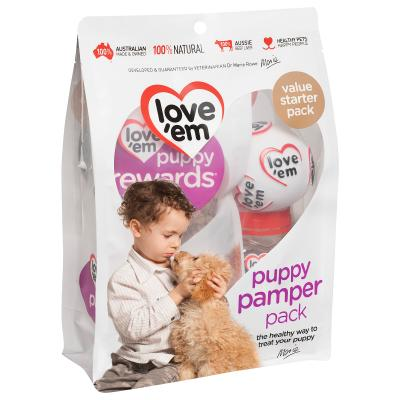 Love em Puppy Pamper Pack Treats For Dogs